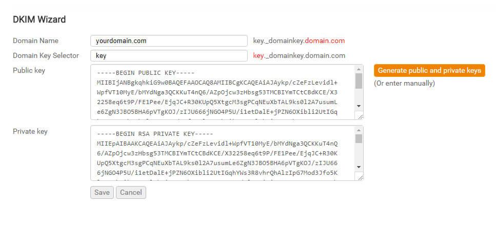 Configurar DKIM